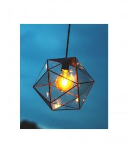Icosaedro vidrio biselado